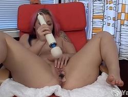 Beauty Yanks BBW Sarah Greenmore Masturbating