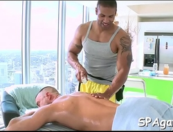 Pleasuring homo blowjob