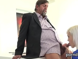 Erotic college girl is tempted and nailed off out of one's mind her older schoolteacher