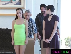 Hot teens swapping their dads