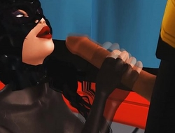 Batman gets Tricked into sex by Catwoman