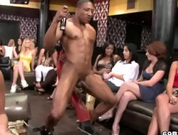 Ladies Suck Swinging Big Black Cock