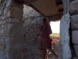 She foodstuffs throughout his cock in an abandoned place away from his house CRI019