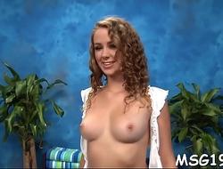 Masseuse enjoys penis insertion