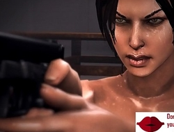 Gameplay - Lara play hardcore orgy with bandits【FREEHGAME.COM】