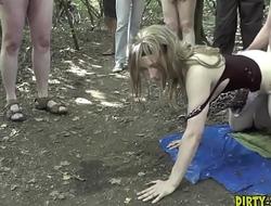 The dogging gangbangs of naughty slutwife Nicole