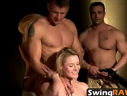 Amateur swingers playing sexy games in reality dissimulate