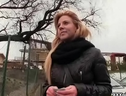Czech Sexy Teen Amateur Get Fucked FOr Cash In Public 10