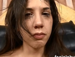 Young stuck up slut gets attitude adjustment at Face Fucking