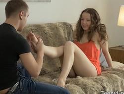 Teeny Lovers - Teen Olivia Grace lovers cumming together