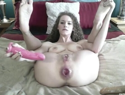Wild camgirl with big naturals proudly shows her gaped asshole