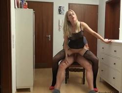 Amateur German MILF serves lover's prick in POV