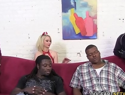 Devil Sara Monroe Gets Gangbanged away from Big Black Cocks