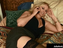 Busty Blonde Milf, Julia Ann Gets A Mouthful of BBC Cum!